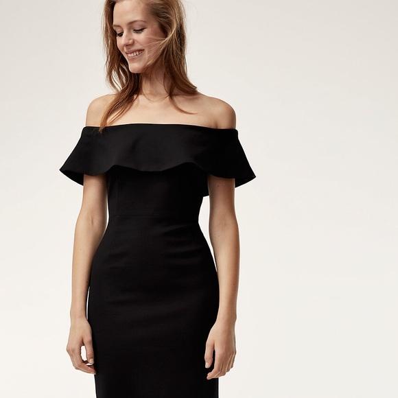 Aritzia Babaton Ruslan Off The Shoulder Dress
